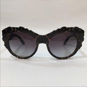 Dolce & Gabbana Black Textured Sunglasses DG4267